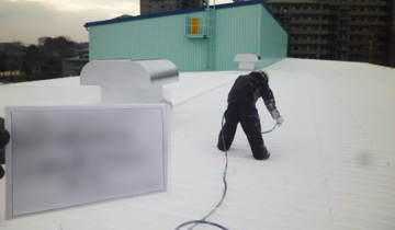 金属屋根遮熱塗装